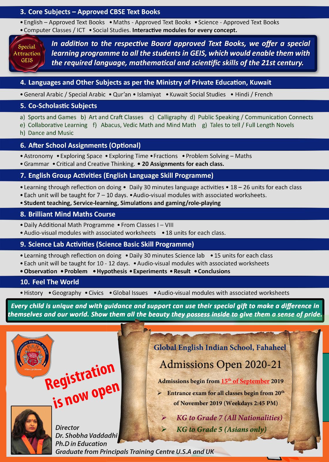 Global English Indian School, Kuwait